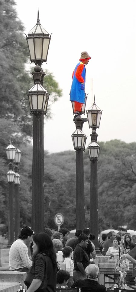 clown-on-a-lamp-post